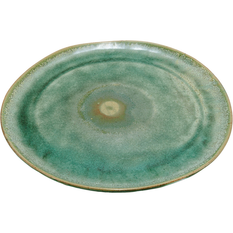 Green Glazed Dinner Plate