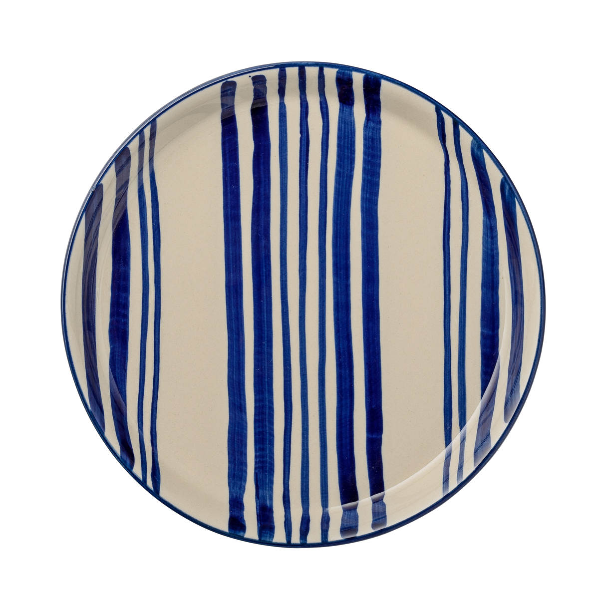 blue-stripe-lunch-plate-day-home