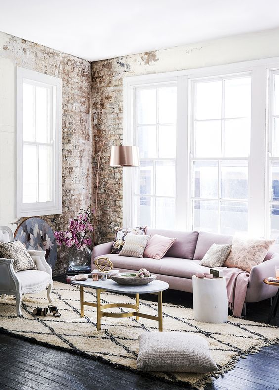 dusty pink interiors