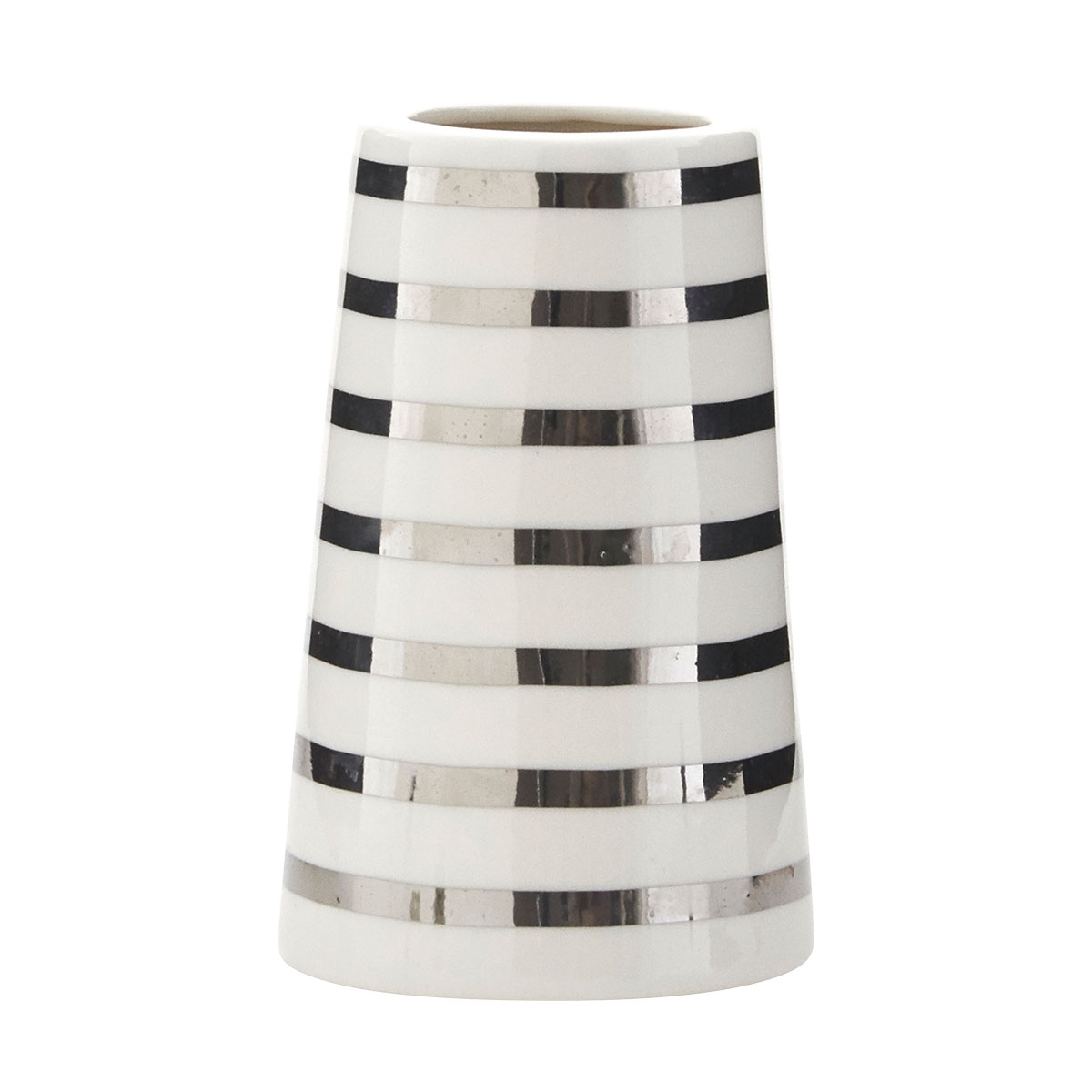 Silver Sailor Stripes Vase