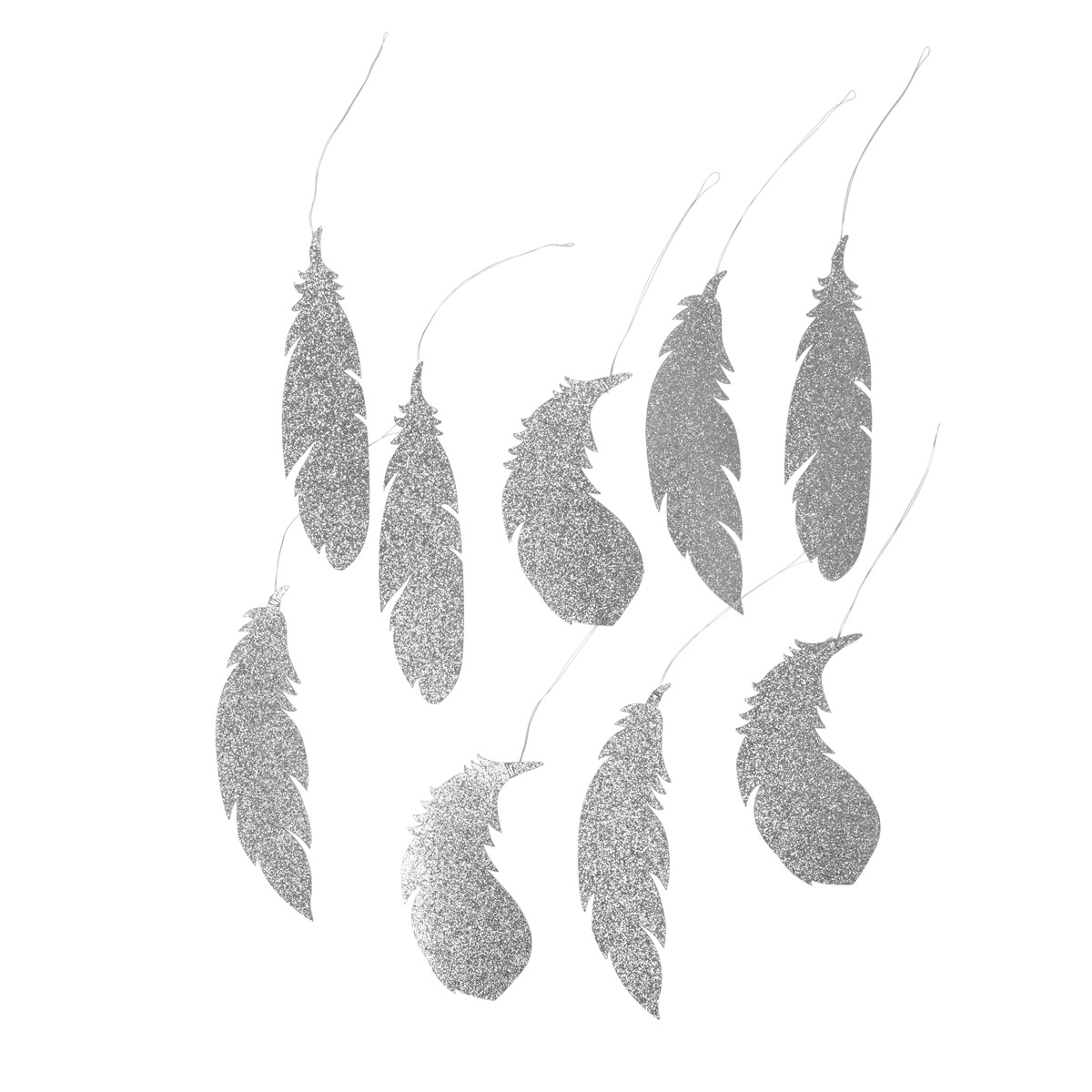 14581470-Deco-Paper-Feathers-in-Silver