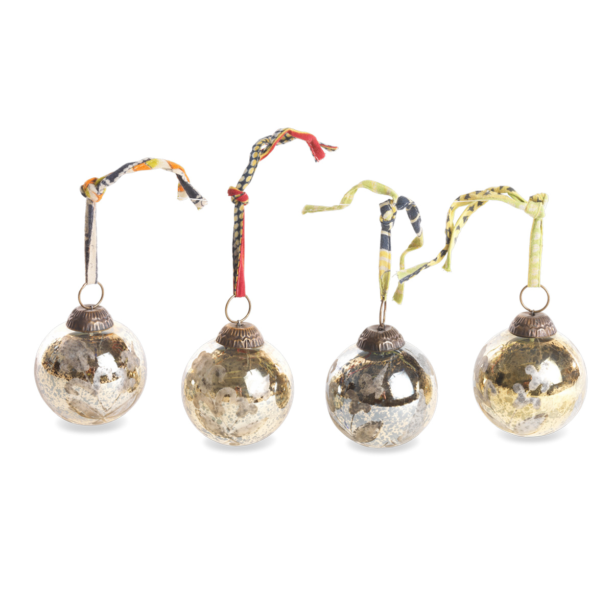 Nkuku mercury glass baubles