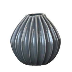 blue broste curved vase