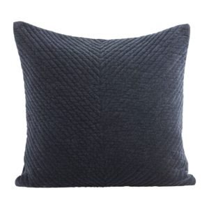 blue navy velvet cushion house doctor