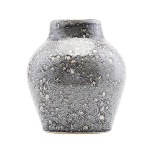 house doctor vase gazed silver