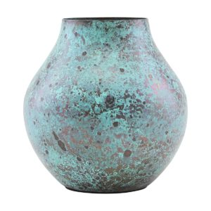 turquoise steel vase house doctor