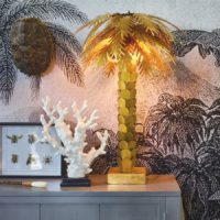 brass palm tree lamp