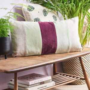 HK-LIVING-mint-cerise-striped-cushion