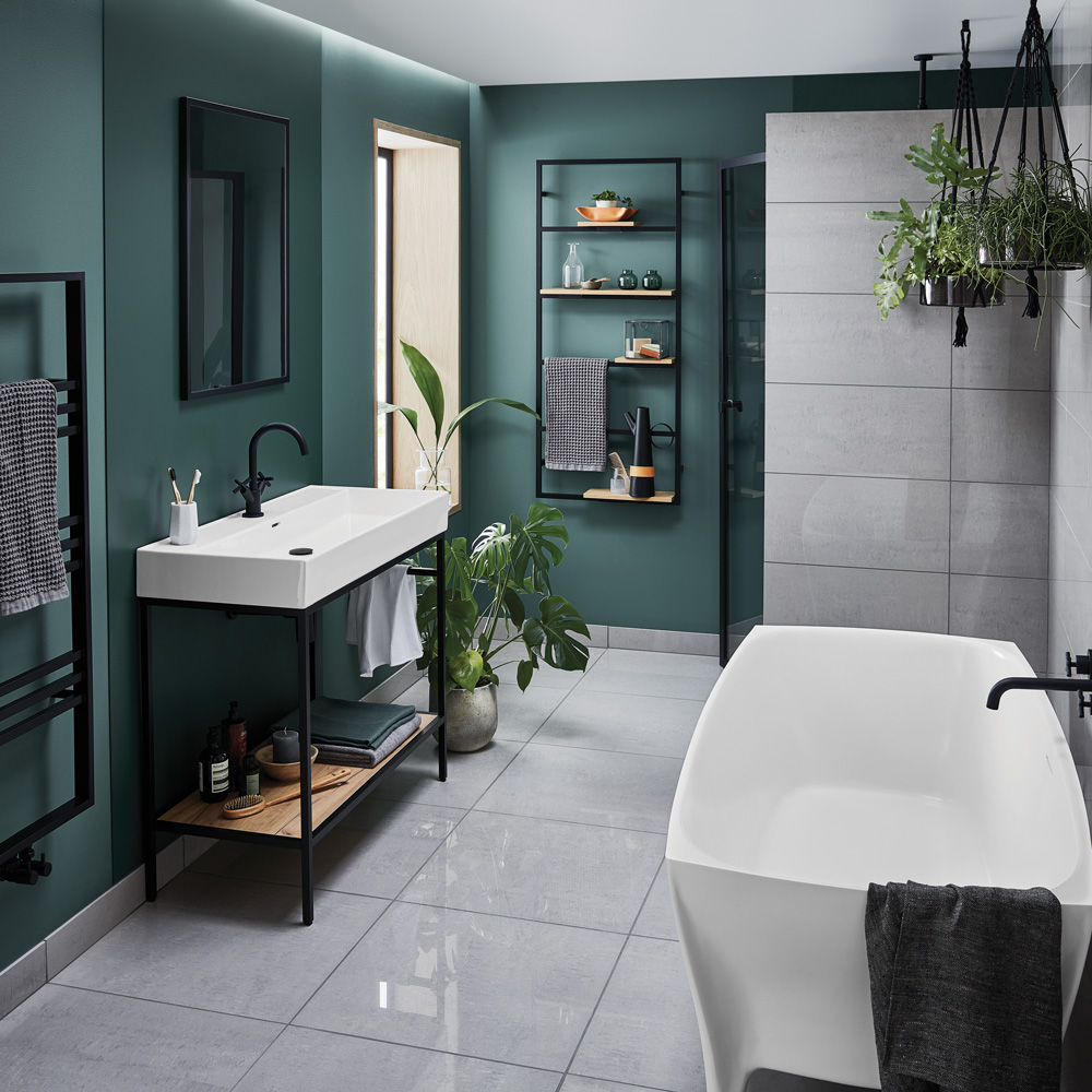 black bathstore bathroom