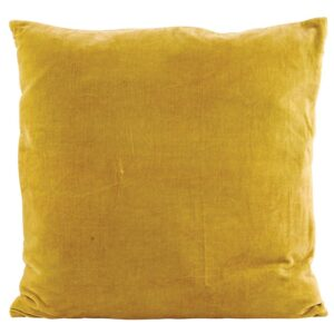 mustard velvet yellow cushion house doctor