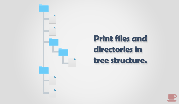 How to print files and directories in tree structure in C programming