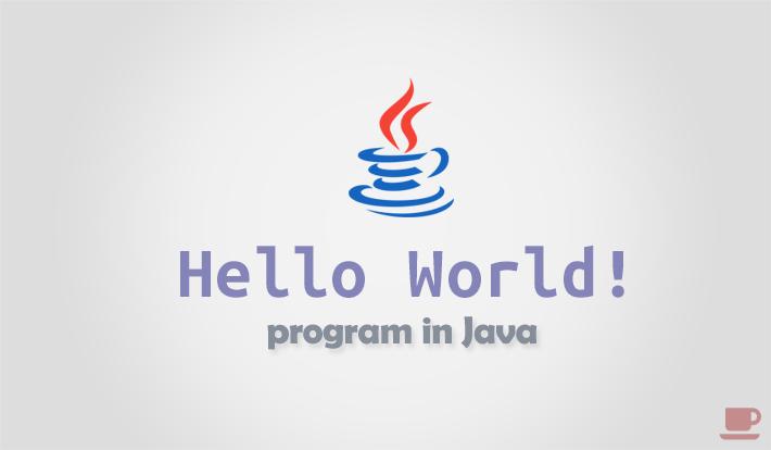 Hello world program in Java