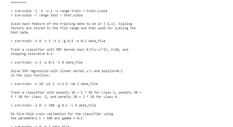 LIBSVM machine learning algorithm