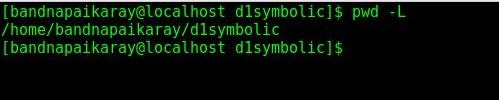 pwd-l command linux