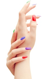 Coloured fingers