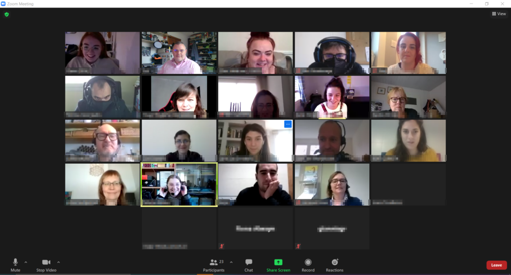 screen capture of 25 Zoom screens showing attendance at our TNLA