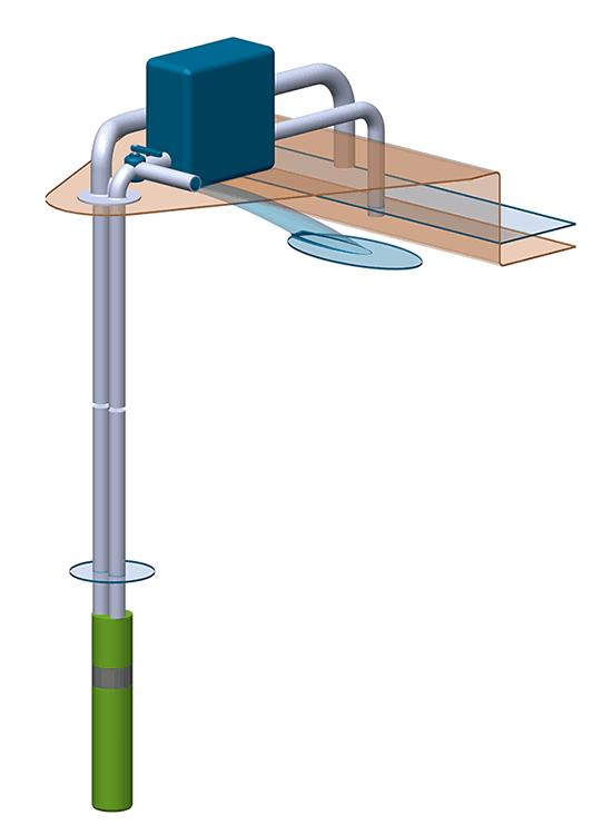 Water pump water distribution diagram