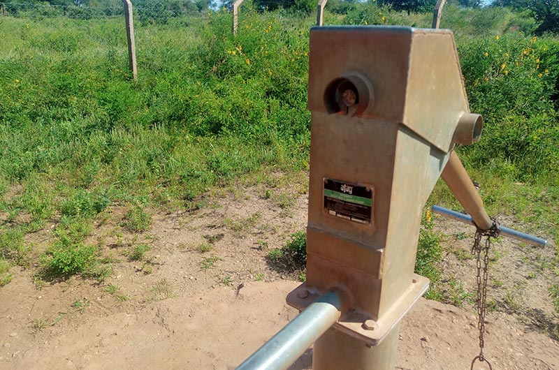 Hand pump replaced by Impact Pump water pump for community water access
