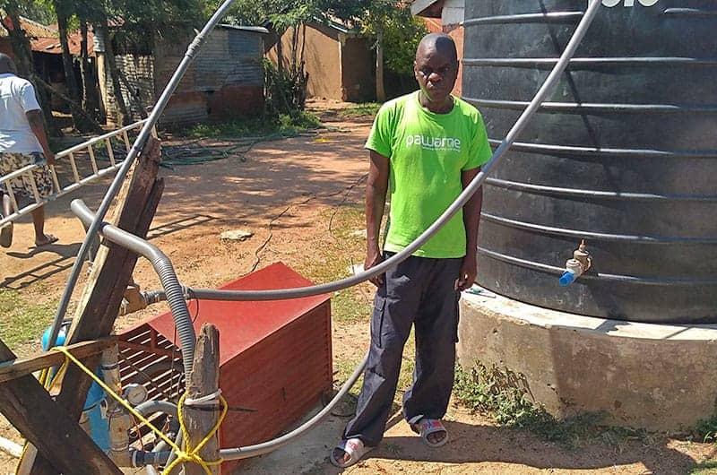 George Arombe Impact Pumps customer