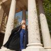 Islamic Abaya – Blue & Orange
