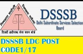 DSSSB LDC post code 1/17 result