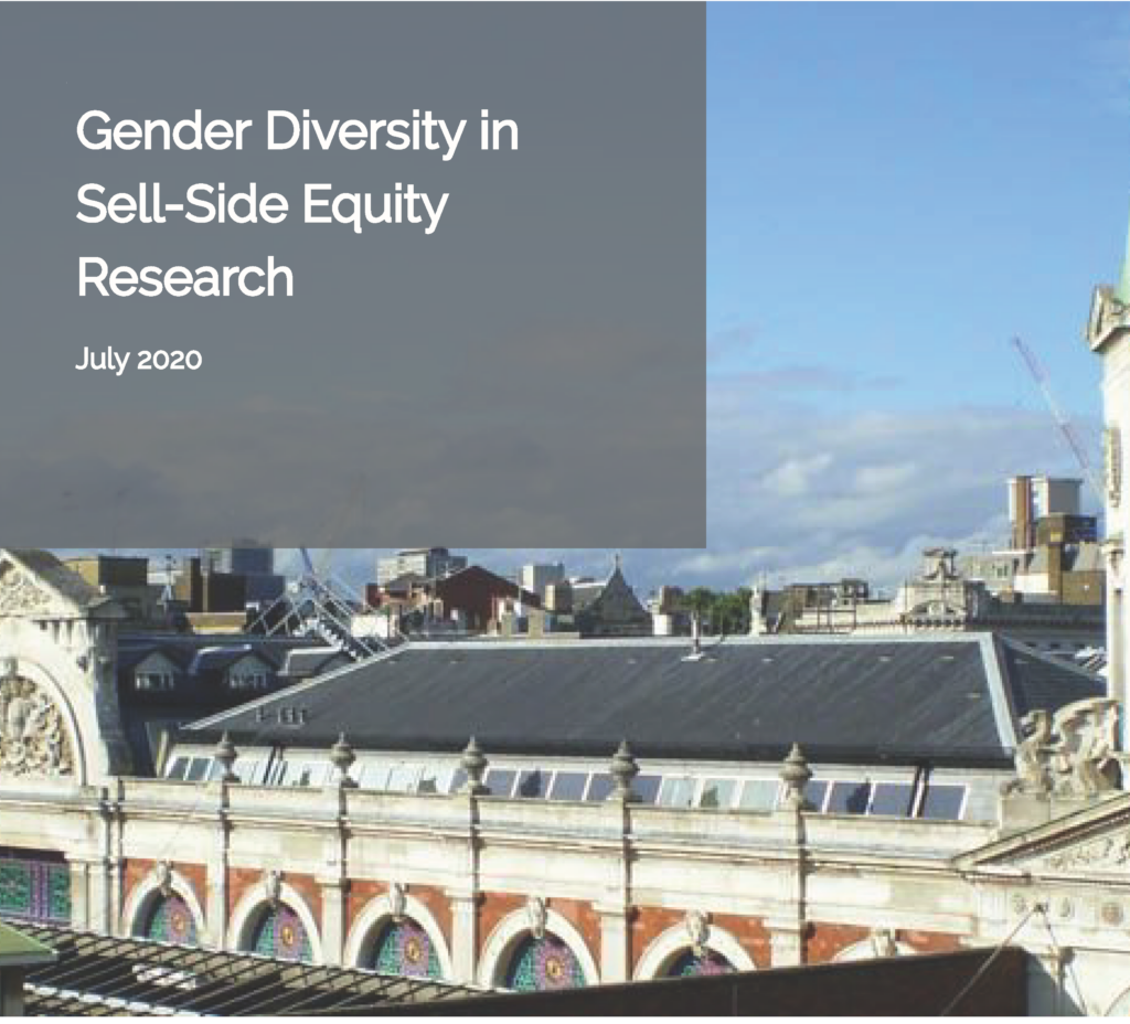 Gender Diversity in Equity Research - Cover