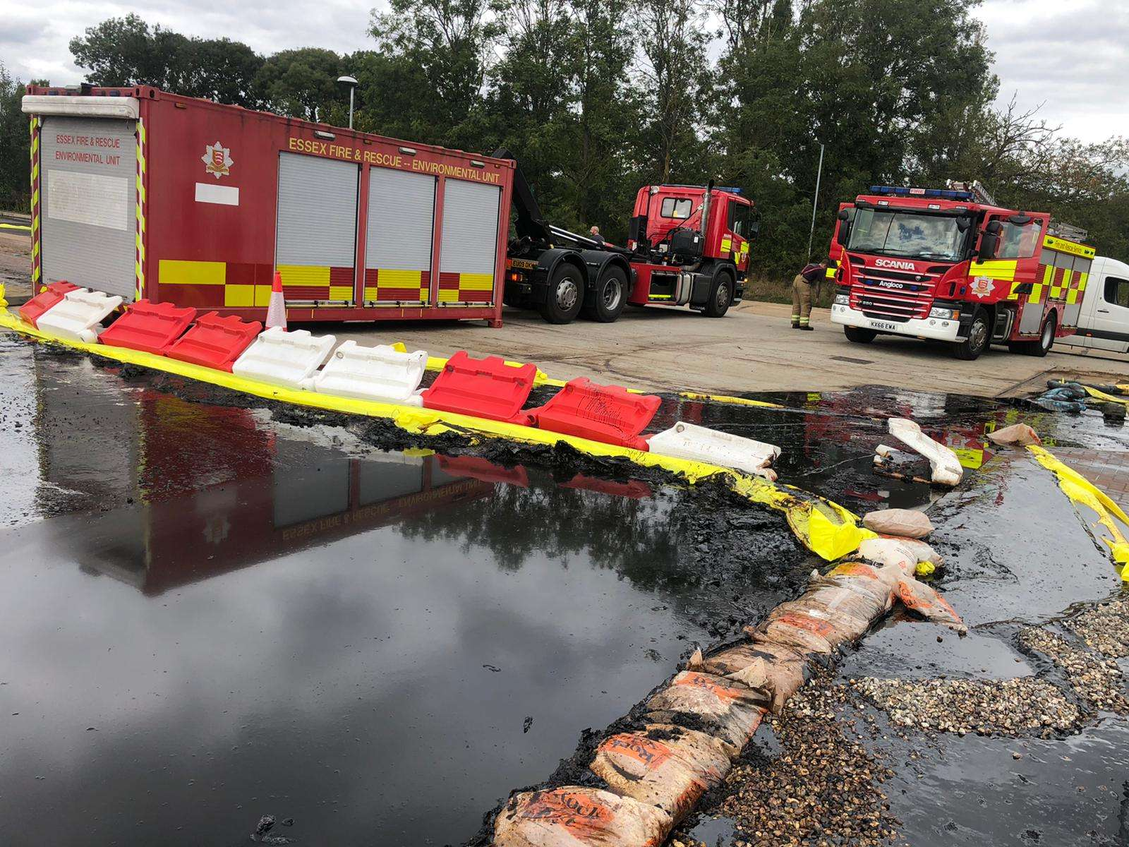 Flooding at fire station