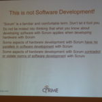 scrum for hardware - this is not software developement