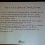 scrum for hardware - this is not software development