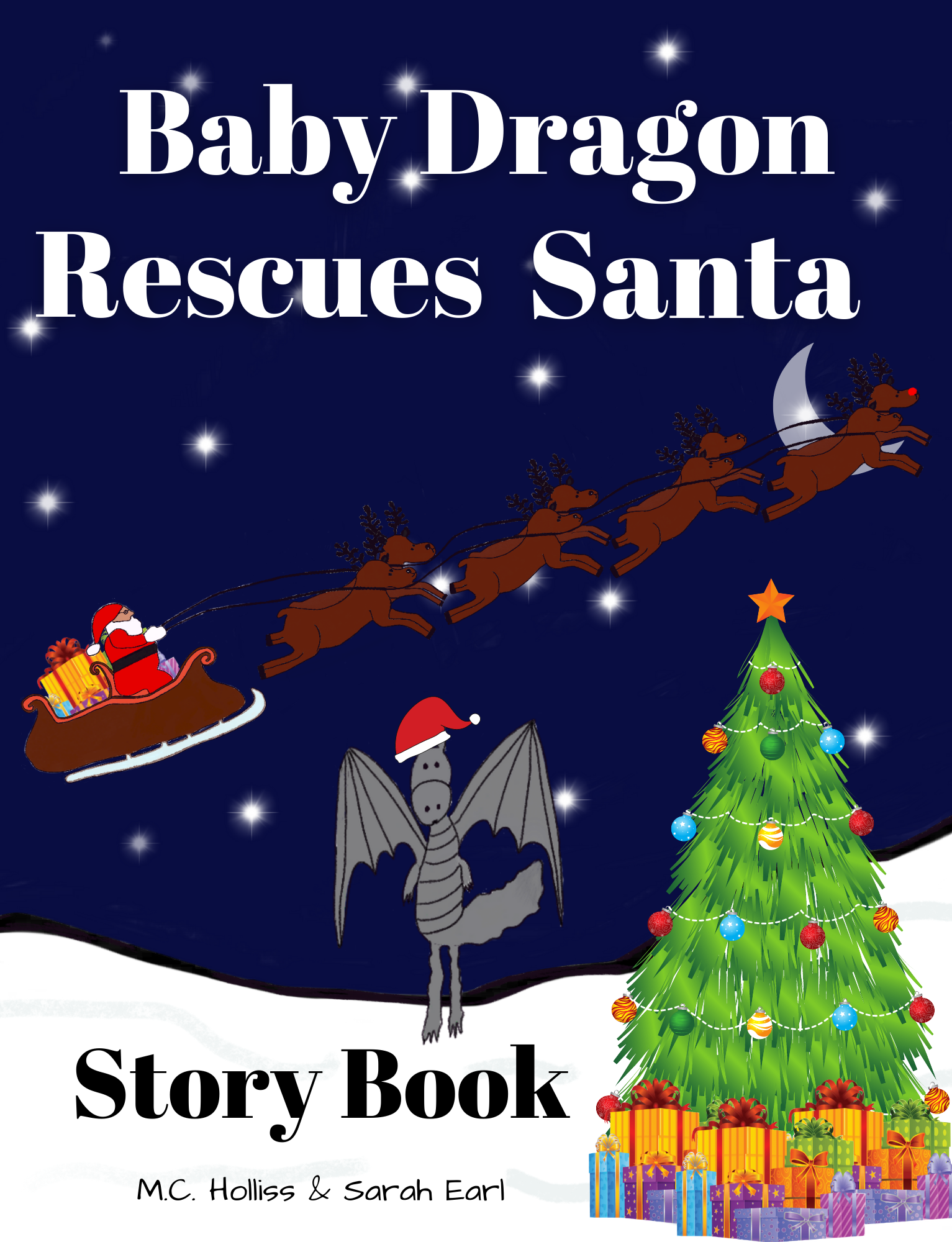 baby dragon rescues santa