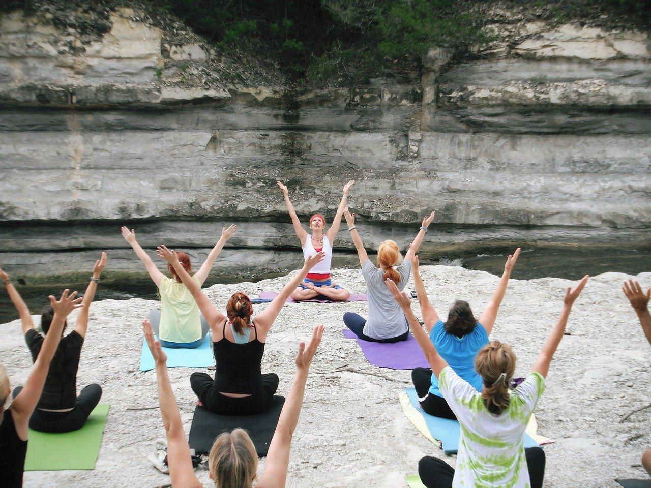 women, yoga classes, asana