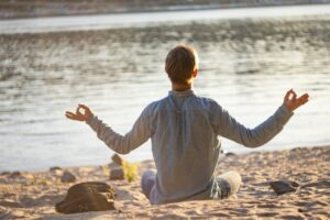 yoga, man, doing
