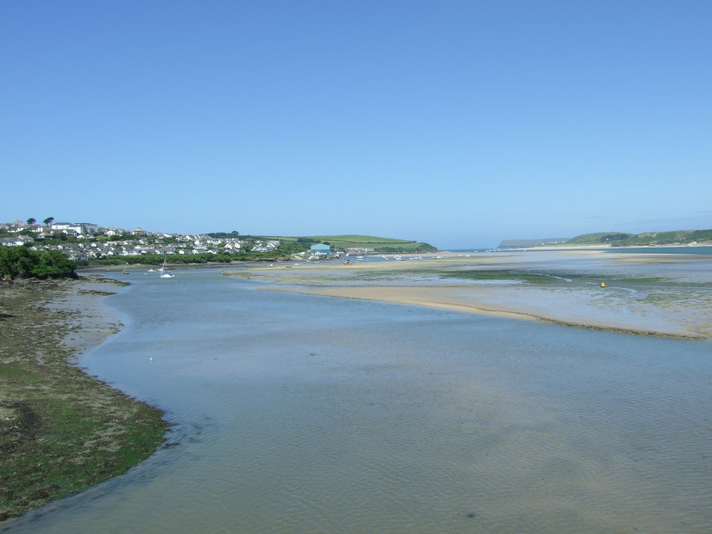 Padstow approach at low tide