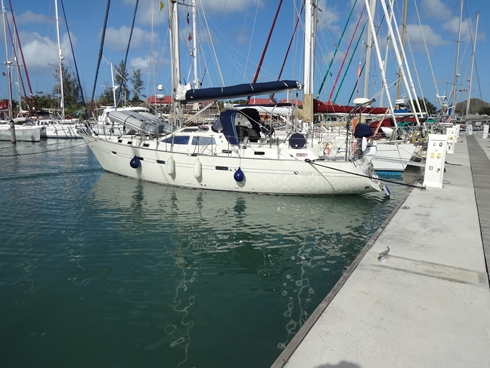 Stern to in Jolly Harbour