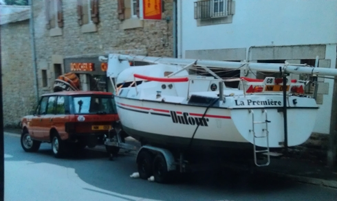 La Premiere, the Dufour T7, pictured in South Brittany.
