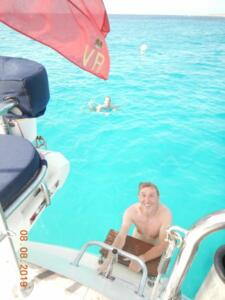 Anchor interlude and a swim