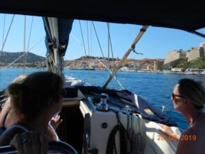 Approaching Calvi marina