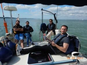 April passage to Yarmouth with Ollie and his mates. Ollie, Raph Malek, Nick Hawkins and George Ince