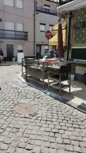 BBQ Restaurant. One of many in the fishing village near the marina in Porto.