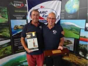 Me and Barry at the presentation in Horta - Azores, receiving the World Cruising Navigators award.
