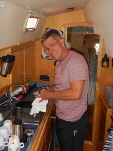 John in the galley
