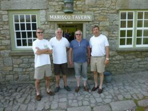 Marisco Tavern. Dave Wright, John Morris, Terry Oakley (now no longer with us) and me