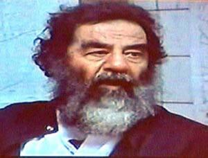 Saddam Hussein - likened to me, hopefully in appearance only.