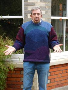 The Jumper - what's wrong with it? It is by 'Siochain' which is of Gaelic origin and means 'Peace'. Knitted in Co. Wicklow, Ireland and was bought from a craft shop (at considerable expense at the time) in Kilmore Quay when stormbound there, circumnavigating the UK about 25 years ago. I will let the readers decide!