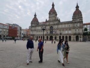 Very relaxed in charming A Coruna
