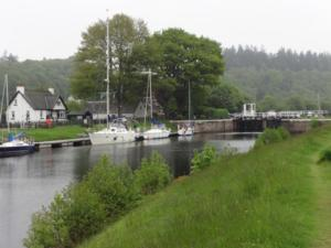 Alongside, first night on the Caledonian Canal