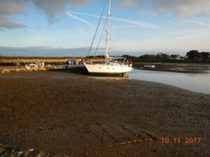 Dried out on Keyhaven Quay