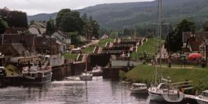 Fort Augustus Locks at the southern end of Loch Ness