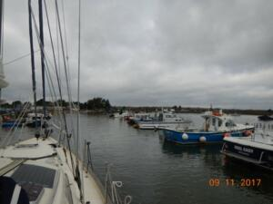 Narrow channel up to Keyhaven Quay