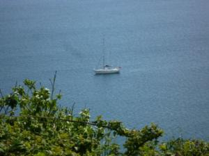 Anchored off Lundy